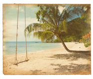 Old tropical postcard Royalty Free Stock Images