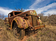 Old Truck. Old and abandond truck that came to the end of the road Royalty Free Stock Images