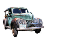 Old truck. Isolated image of an old pick up truck royalty free stock image