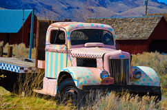 Old Truck. This is an old painted up truck with perfect skies Royalty Free Stock Photo