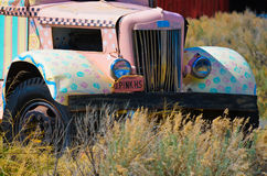 Old Truck. This is an old painted up truck with perfect skies Royalty Free Stock Photos