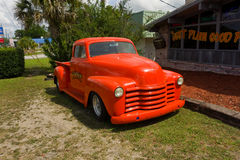 An old truck advertising a restaurant in florida Stock Photography