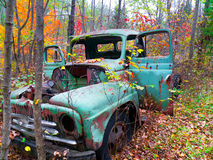 Old Truck in Autumn Forest Royalty Free Stock Photography