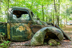 Old Truck from Cartersville Georgia. An old abandoned truck in woods near Cartersville, Georgia Royalty Free Stock Photo
