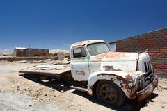 Old truck. Colchani. Potosí Department. Bolivia. Colchani is a small town in Bolivia, located near the Salar de Uyuni Royalty Free Stock Images