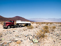 Old truck in desert Royalty Free Stock Image