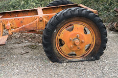 Flat tire on an old truck Royalty Free Stock Photo