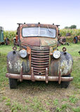 Old Truck Front. A front view of an old farm truck stock image