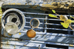 Old truck front closeup. Royalty Free Stock Images