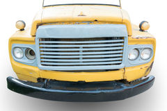 Old truck front view  with color crack Royalty Free Stock Photos
