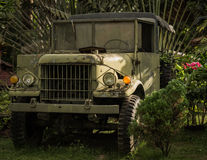 An old truck in the garden Royalty Free Stock Photography