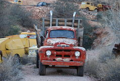 Old truck in ghost town Royalty Free Stock Photos