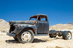 The old truck in ghost town Rhyolite, Nevada. Royalty Free Stock Photo
