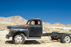 The old truck in ghost town Rhyolite, Nevada. Royalty Free Stock Image
