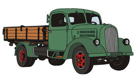 Old truck. Hand drawing of old lorry truck Stock Images