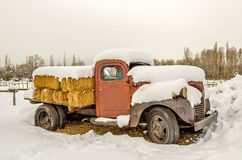 Old Truck with Hay Royalty Free Stock Photos