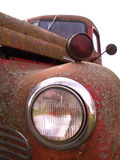 Old truck headlight. Old International truck unique perspective Royalty Free Stock Photography