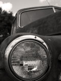 Old truck headlight BW Royalty Free Stock Photos