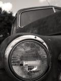 Old truck headlight BW. The headlight of an old pickup truck.  Shallow DOF, focus on the headlight Royalty Free Stock Photos