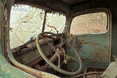 Old Truck Interior Royalty Free Stock Photos