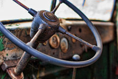 Old truck interior Stock Photos