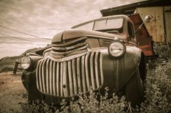 Old Truck Jerome Arizona Ghost Town. Mine and old cars Royalty Free Stock Photography