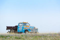 Old truck left on a middle of nowhere Stock Photos
