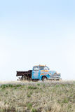 Old truck left on a middle of nowhere Royalty Free Stock Image