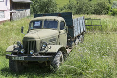 An old truck in a meadow in Ukraine Stock Images