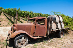 Old Truck in a Mendocino grape vineyard Stock Photography
