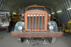 An old truck at a museum in whitehorse. Royalty Free Stock Image