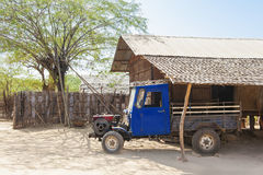 Old truck in a Myanmar farm yard Stock Images