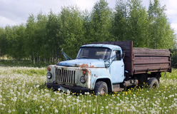 Old truck in nature concept Royalty Free Stock Photo