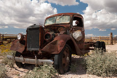 Old truck on old Route 66 Stock Photography