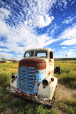 Old truck out in the meadow Royalty Free Stock Photo