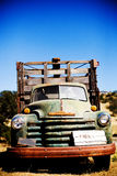Old Truck with Park sign stock photography