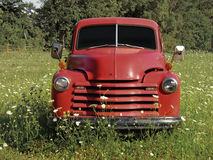 Old Truck. Parked in a field. Includes a clipping path that masks out the windows Royalty Free Stock Images