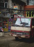 Old Truck Passing Thamel Street. Editorial Stock Photo