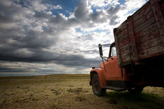 Old truck prairie Royalty Free Stock Images