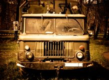 Old truck with red tint Royalty Free Stock Photography