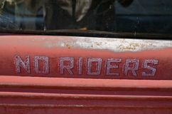 Old truck refuses riders Royalty Free Stock Photo