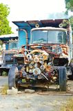 Old truck rusty engine Royalty Free Stock Image