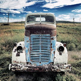 Old truck square Stock Images