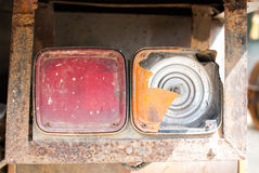 Old truck taillights Royalty Free Stock Images