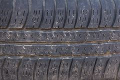 Old truck tire texture Royalty Free Stock Photo