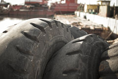 Old truck tires Royalty Free Stock Photos