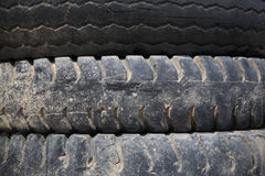 Old Truck tires stacked Stock Image