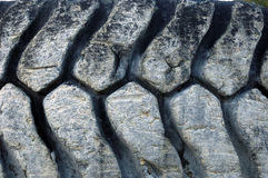 Old truck tires in a stone quarry Stock Photo
