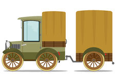 Old truck and trailer Stock Photo