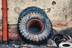 Old truck wheel Royalty Free Stock Image